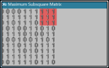Maximum Subsquare Matrix